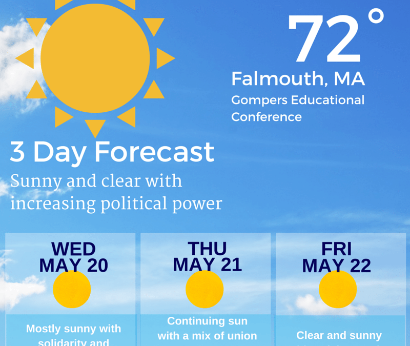 Come on down! 2015 Gompers Educational Conference – May 20-22. Sea Crest in Falmouth!