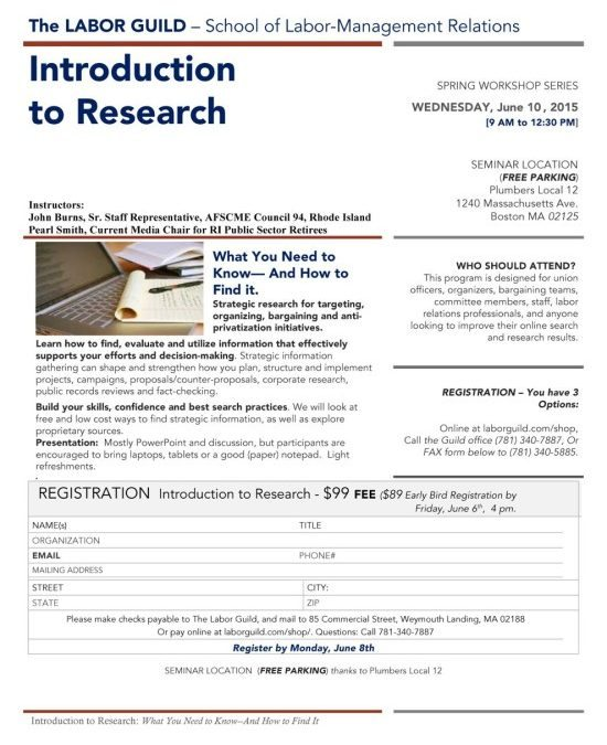 Register Today for our Wed June 10th Introduction to Research Workshop