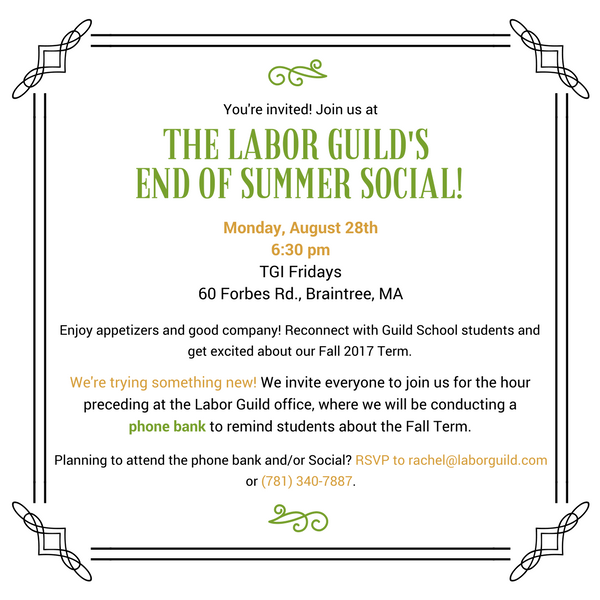 You're Invited: End of Summer Social!